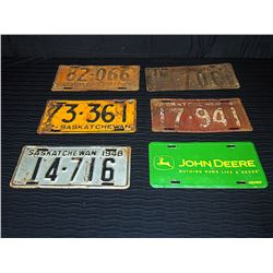 (6) Assorted License Plates