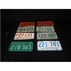 (8) Assorted License Plates