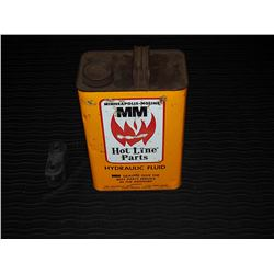 Minneapolis Moline Hydraulic Fluid Tin