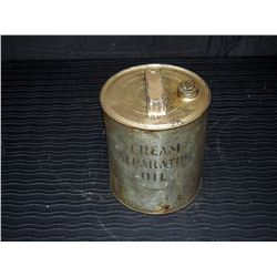 Cream Separator Oil Tin with Some Contents