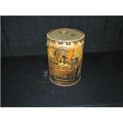 Red Indian Motor Oil 5 Imperial Gallon Pail with Lid
