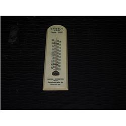 Grizzly Gasoline Wooden Advertising Thermometer