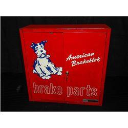 American Brakeblok Metal Locking Parts Cabinet w/ key