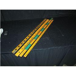 (4) Vintage Wooden Yard Sticks