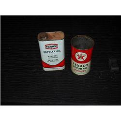 (2) Texaco Tins (Capella with partial contents)