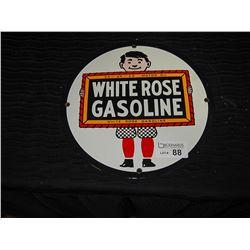 En-Ar-co White Rose Fantasy Porcelain Pump Plate