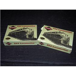 (2) FA2 HO Locomotives, CP Branding