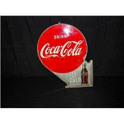 Original Coca-Cola Flange Tin Sign
