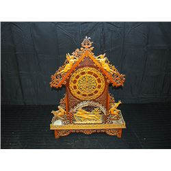 Wooden Scrollwork Mantle Clockbody