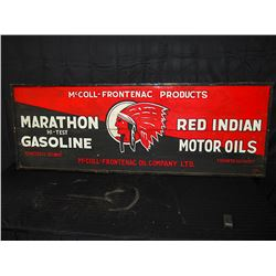 Wooden Red Indian Gasoline Sign
