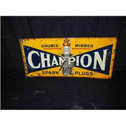 Original Champion Embossed Tin Sign