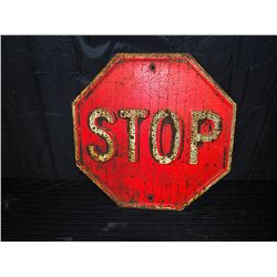 Original Embossed Metal Stop Sign