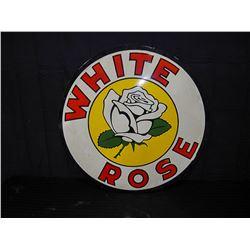White Rose Double Sided Porcelain Fantasy Sign