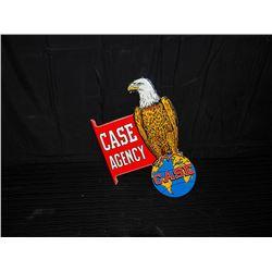 Case Eagle Double Sided Porcelain Fantasy Flanged Sign