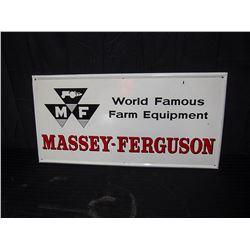 Massey Ferguson Farm Equipment Tin Single Sided Sign