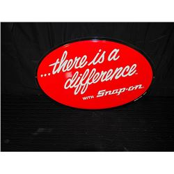 """Snap On Tools """"There is a Difference"""" Embossed Single Sided Tin Sign"""