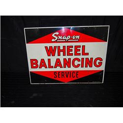 Snap On Tools Original Double Sided Enamel Wheel Balancing Sign