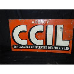 CCIL Painted Tin Sign