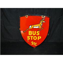 STC Double Sided Porcelain Bus Stop Sign