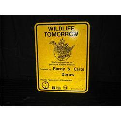Willowbrook Wildlife Federation Single Sided Aluminum Sign