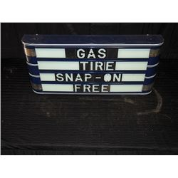 1950's Restored Light Up Advertising Display Sign, Working