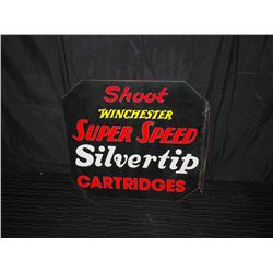 Winchester Silvertip Double Sided Flange Tin Sign