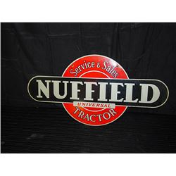 Nuffield Universal Tractor Double Sided Tin Sign