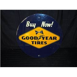 Good Year Tire Single Sided Tin Sign