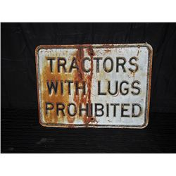 Heavy Embossed Tractor Lug Single Sided Metal Sign