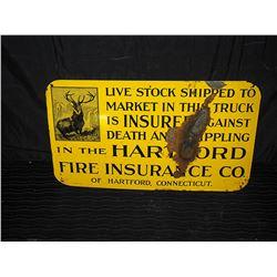 Hartford Insurance Single Sided Tin Sign