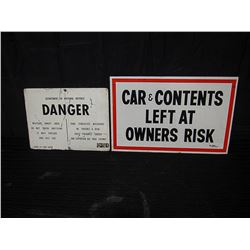 (2) Single Sided Signs