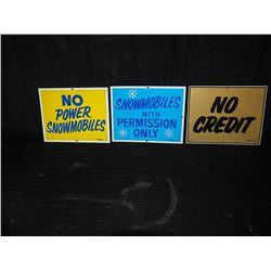 (3) Tin Signs