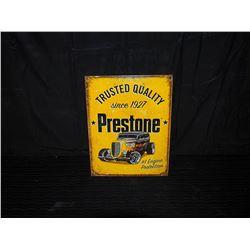 Prestone Single Sided Tin Sign