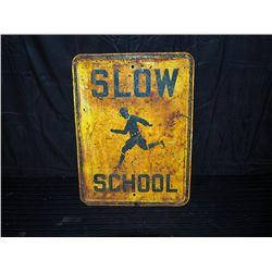Original Heavy Metal School Crossing Single Sided Sign