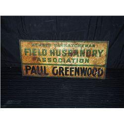 Original Field Husbandry Metal Sign