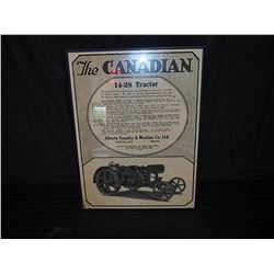 Framed Canadian 18-28 Tractor Advertising Sign