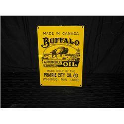 Buffalo Porcelain Single Sided Fantasy Sign