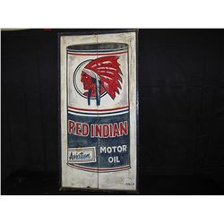 Wooden Red Indian Oil Sign