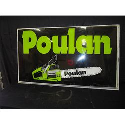 Large Plastic Poulan Chainsaw Sign