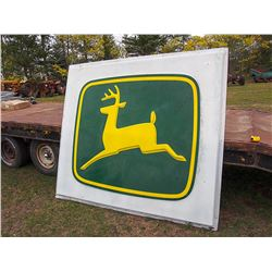 Very Large John Deere Plastic Sign