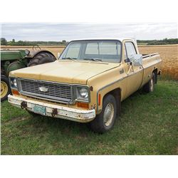 1973 Chev Custom Deluxe ¾ Ton Serial #: CCY1431153001