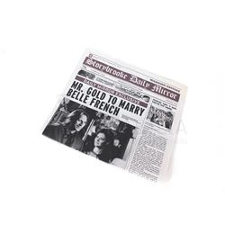 Once Upon a Time - Storybrooke Newspaper 'Mr. Gold to Marry Belle French' (3208)