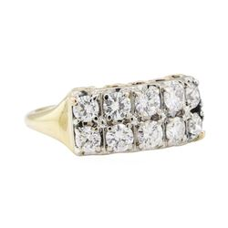 1.15 ctw Diamond Ring - 14KT Yellow and White Gold