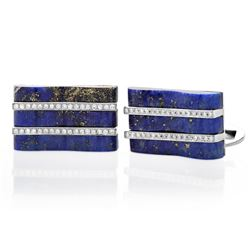 18k Gold 0.27CTW Diamond Cuff Links, (SI1/G-H)