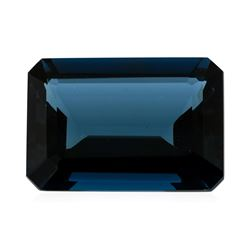 45.02 ct.Natural Emerald Cut London Blue Topaz