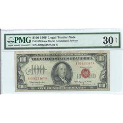 1966 $100 Legal Tender Note PMG Very Fine 30 Net