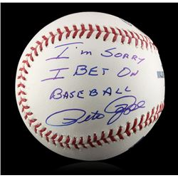 """Autographed Pete Rose """"I'm Sorry"""" Baseball PSA Certified"""