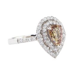 1.68 ctw Pink Sapphire and Diamond Ring - Platinum