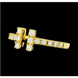 0.40 ctw Diamond Ring - 18KT Yellow Gold