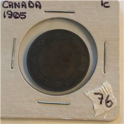 Very Nice 1905 Canada Large Cent in a Old Holder